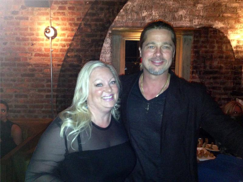 Susan and Brad Pitt